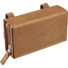 Brooks D-Shaped Satteltasche beige